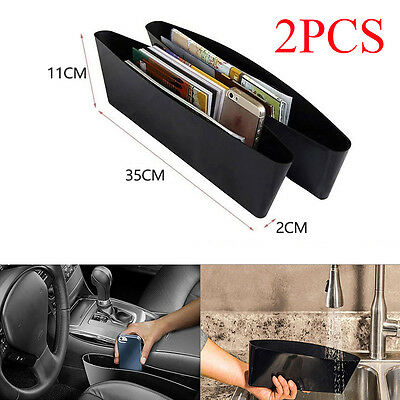 2× Catch Catcher Caddy Box Car Seat Gap Slit Organizer Holder Pocket Storage 2pc