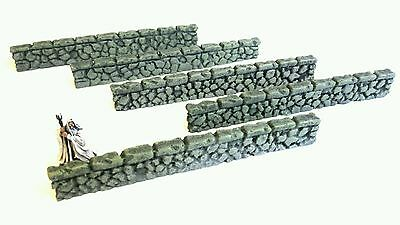 Wargames Scenery Terrain 28mm Resin Walls - Bolt Action, Frostgrave, Warhammer