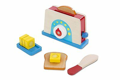 Brand New Melissa & Doug Bread & Butter Toaster Wooden Pretend Play Kitchen