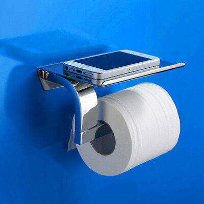 New Arrival Paper Roll Rack Bathroom Toilet Paper Holder Phone Rack Wall-mounted