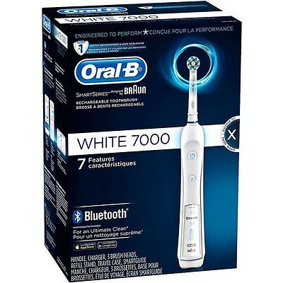 ORAL-B 7000 Electric Bluetooth Toothbrush - White - BRAND NEW IN BOX