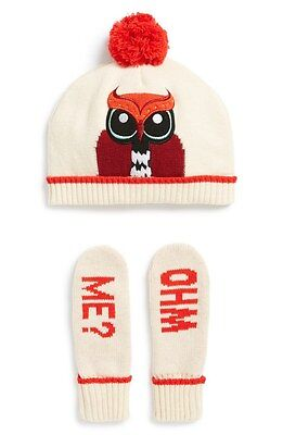 kate spade new york Girls' Owl Hat & Who Me Mittens Set Size XS (4/6)