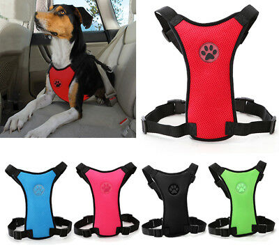 Soft Air Mesh Dog Car Harness Safety Restraint Pet Seat Belt Harness Vest