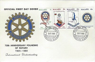 1980 Rotary International - Malawi - 75th Ann FDC