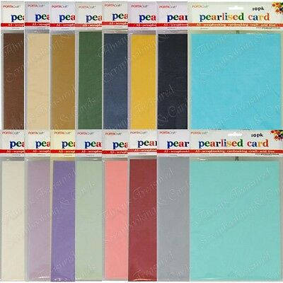 PORTACraft A5 Pearlised Cardstock 10pk ~ 16 Colour Options Card Craft Porta
