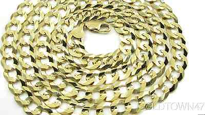 Solid 14k Yellow Gold Comfort Cuban Curb 10mm wide Heavy Chain Men's Necklace
