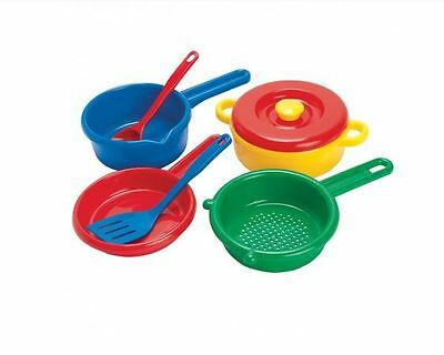 Brand New Dantoy Kithcen Cooking Set Pretend Play Kitchen Role Play Utensils Toy