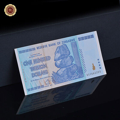 WR Banknote Zimbabwe 100 Trillion Dollars Banknote CURRENCY 2008 AA / ONE NOTE