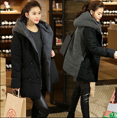 Winter Warm Women Pregnant Maternity Hooded Cotton-padded Coat Jacket Thicken