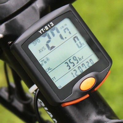 YT813 MTB Bike Cycling Wireless Digital Backlight Computer Odometer Speedometer