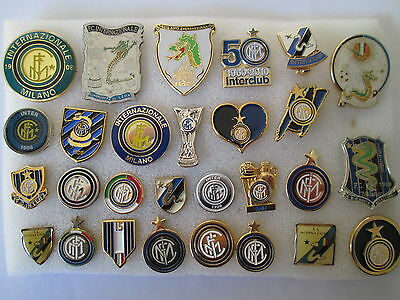 lotto 28 pins lot INTER FC club spilla football calcio soccer broches spille