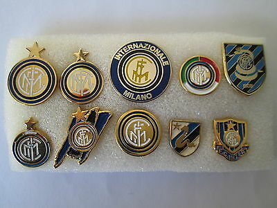 lotto 10 pins lot INTER FC club spilla football calcio spille internazionle