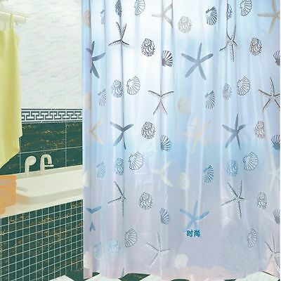 Bathroom Shower Waterproof Curtain Starfish Trendy Style With Hooks Home New