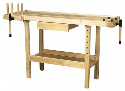 Sealey Wooden Work Bench Table Workshop Carpenters Wood Woodworking & Vices