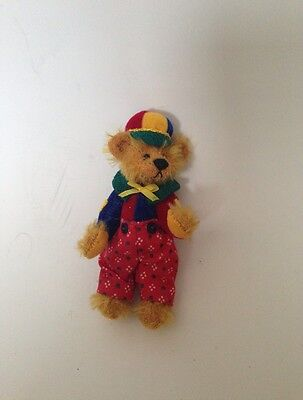 DEB CANHAM MINIATURE TEDDY Bear In Red Pants Collection