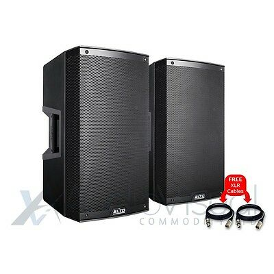 "2x Alto TS215 Active 1100W 15"" Compact PA DJ Disco Stage Speaker & Free Cables"