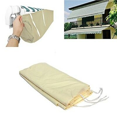 Beige Yard Outdoor Awning Sun Canopy Winter Storage Bag Rain Cover Protector