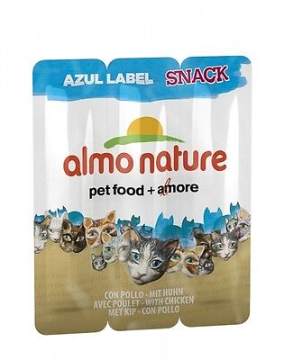 Almo Nature Cat Azur Label snack  mit Huhn (x3) 5 g