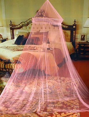 Mosquito Net Bed Canopy Netting Curtain Dome Fly Midges Insect Stopping Pink