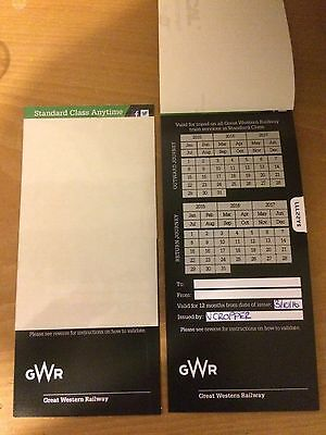 Return Ticket For Any Journey On Great Western Railway