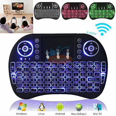 2.4GHz Backlight Romote Keyboard Touchpad Air Fly Mouse i8 For Android TV BOX PC