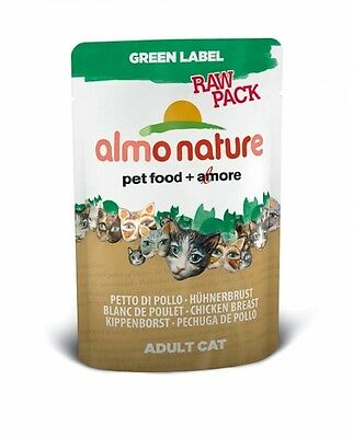 Almo Nature Cat Green Label  raw pack Hühnerbrust 55 g