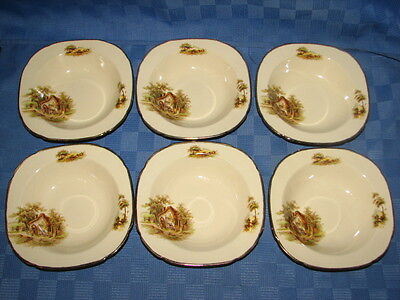 Alfred Meakin England, Set of 6 Square Rimmed Bowls