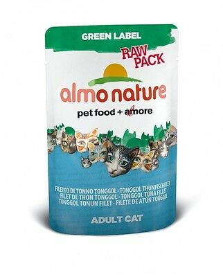 Almo Nature Cat Green Label  raw pack Tonggol Thunfischfilet 55 g • EUR 6,79