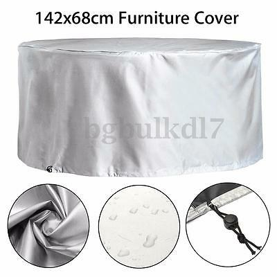 "56"" Waterproof Outdoor Round Patio Furniture Table Chair Cover Protector Shelter"
