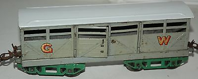HORNBY SERIES O GAUGE No 2 CATTLE WAGON GWR LIVERY