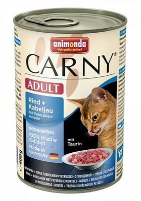 Animonda Cat Dose Carny Adult Rind & Kabeljau & Petersilienwurzeln 400g