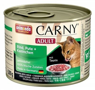 Animonda Cat Dose Carny Adult Rind & Pute & Kaninchen 200g