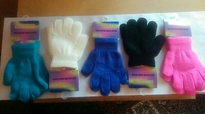 Kids Colourfull Magic Winter Gloves, One Size, 2 Pairs