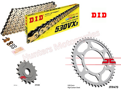 Yamaha YZF-R6 (2005) DID Gold X-Ring Heavy Duty Chain & JT Sprockets Kit Set