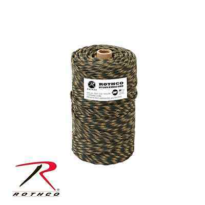 Rothco Nylon Paracord 550lb(250 Kg)300 Ft (90 Mt) Diam. 4mm Rotolo Woodland Camo