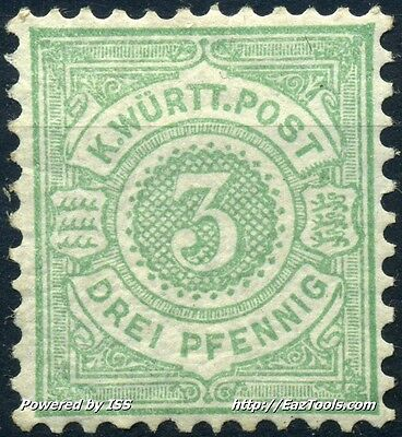 Allemagne Wurtemberg N° 44 Neuf * Avec Charniere
