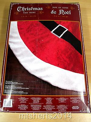 Costco Santa Jupe De Sapin Red Christmas Tree Skirt Decoration 1.6M  NEW S9
