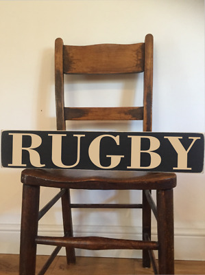 rugby gift sign gift twickenham 6 nations ball RUGBY wooden sign kitchen