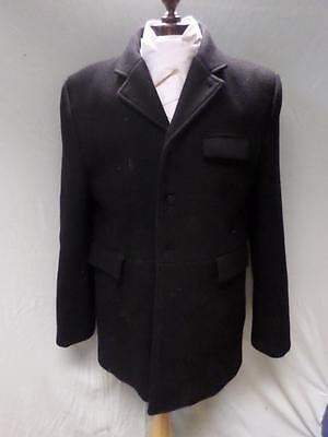 """*mens Black Hunting Coat/jacket-100% Wool By Ssl- Chest Size 46""""*"""