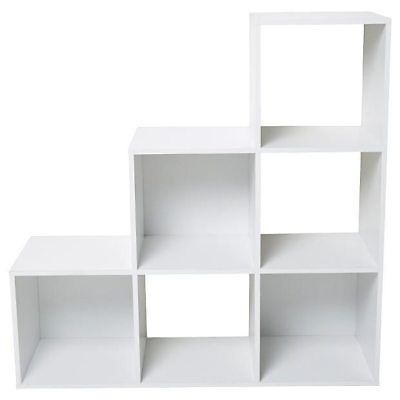 NEW 6 Cube Storage Unite - White