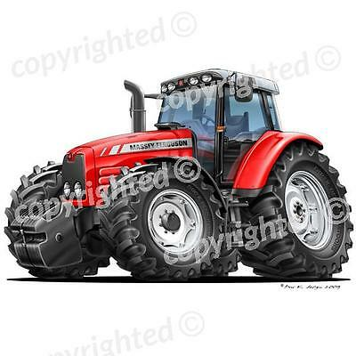 Massey Ferguson Tractor - Vinyl Wall Art Sticker - Red