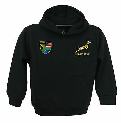 Embroidered South Africa Springbok Rugby kids hoodie