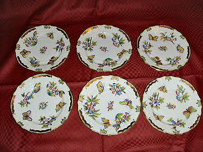 Herend Queen Victoria bread&butter plate set for 6. 1515.