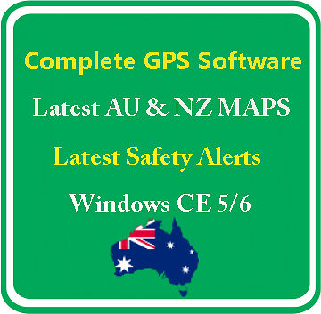 Latest GPS Sat Nav Software Windows CE 2Din with Australia & NZ 3D Maps 8GB CARD