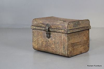 Small Rustic Tin Trunk