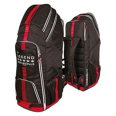 2018 Gray Nicolls Legend Black Red White Cricket Duffle Bag