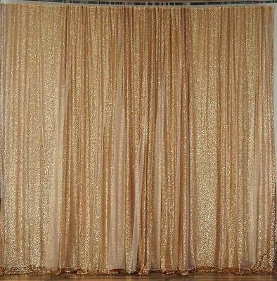 GOLD SEQUINS BACKDROP 20 10 ft Stage Wedding Party Catering Booth Decorations