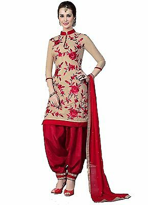 Bollywood Latest Design indian / pakistani Panjabi Dress Kamees, Suit Red color