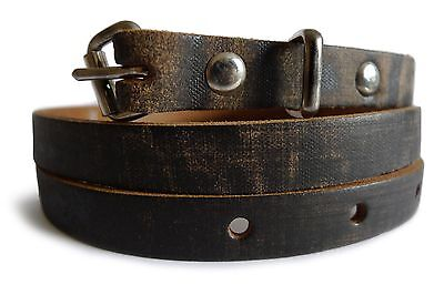 Old Wood Effect Real Leather Rustic Look Women Belt (BL003233)