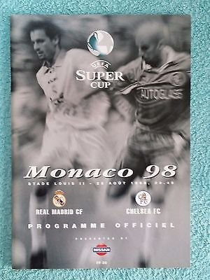 1998 - SUPER CUP FINAL PROGRAMME - REAL MADRID v CHELSEA - Great Condition